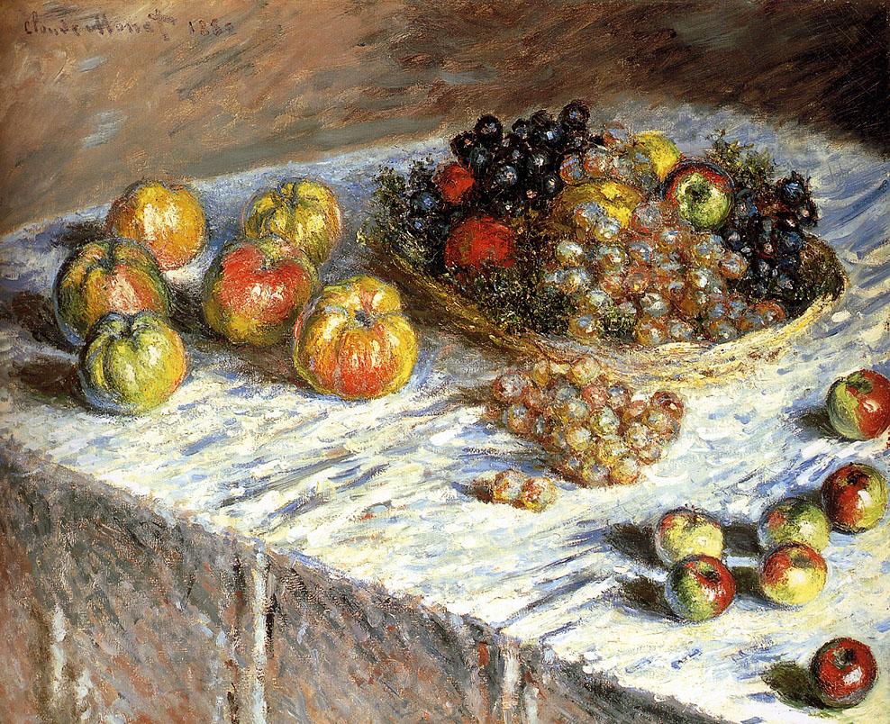 К. Моне Натюрморт с яблоками и виноградом