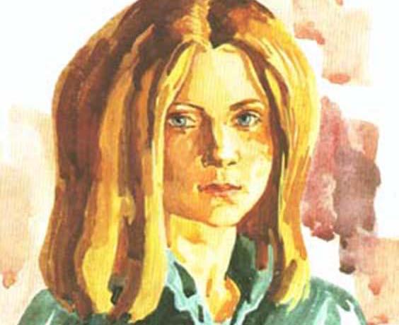 Портрет девочки (гуашь)