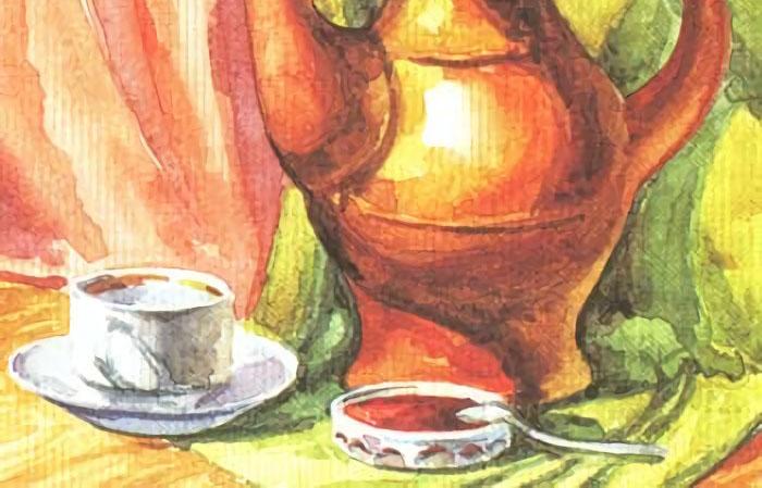 Натюрморт с чайной посудой