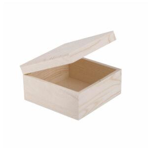 Шкатулка деревянная 150х150х80 мм, сосна
