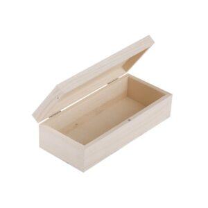 Шкатулка деревянная 200х90х55 мм, сосна